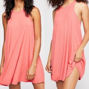 Free people coral Xs dress NWT sleeveless